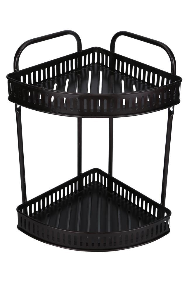 Metallic Grid 3 Rack Corner Shower Caddy