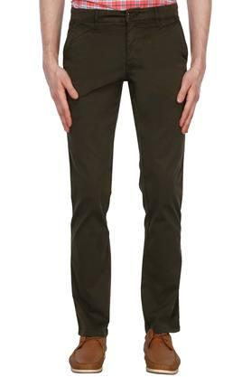 LOUIS PHILIPPE SPORTSMens 5 Pocket Solid Chinos