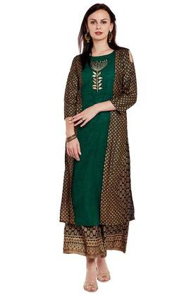 Women Printed Kurta and Palazzo Set