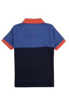 Boys Slim Fit Colour Block Polo Tee