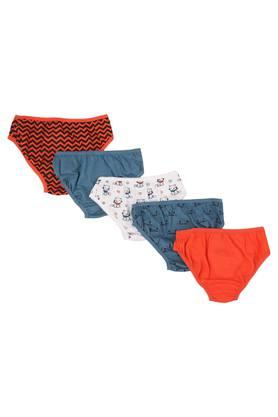 Girls Printed Briefs - Pack Of 5
