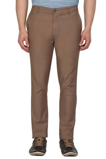 VETTORIO FRATINI -  BrownCasual Trousers - Main