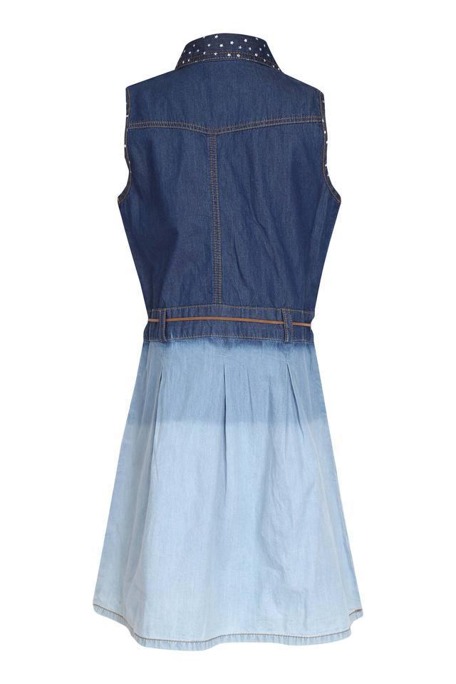 Girls Collared Colour Block Dress