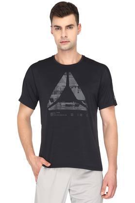 REEBOKMens Round Neck Graphic Print T-Shirts