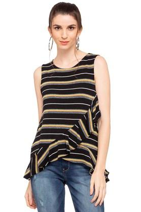 6c1a6ff11db92 X VERO MODA Womens Round Neck Striped Top. VERO MODA