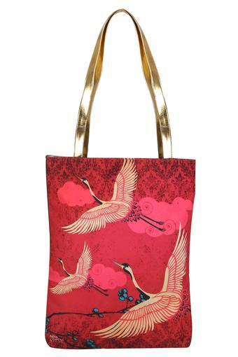 Printed Snap Closure Jhola Shopping Bag