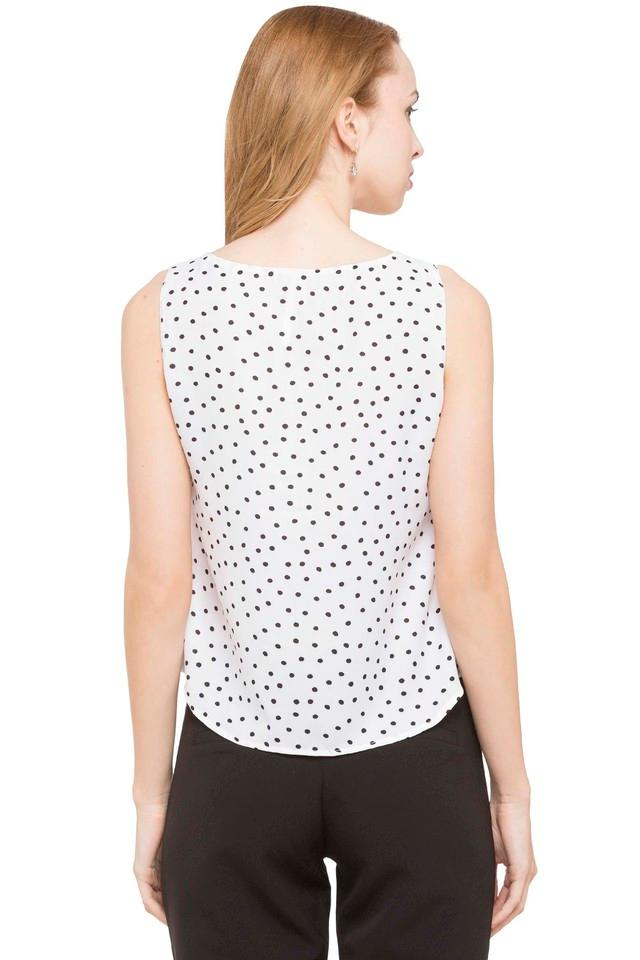 Womens Round Neck Polka dots Top