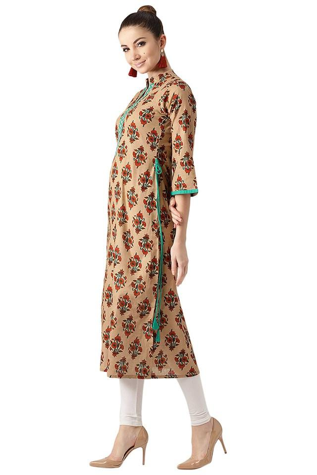 Womens Cotton Printed Aline Kurta