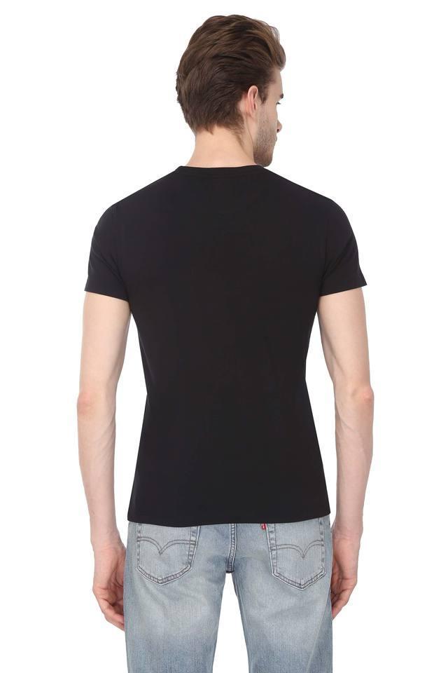 Mens Printed Round Neck T-Shirt