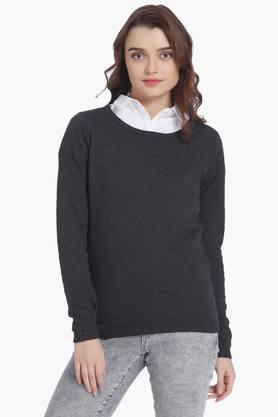 VERO MODA Womens Round Neck Solid Sweater - 203052981