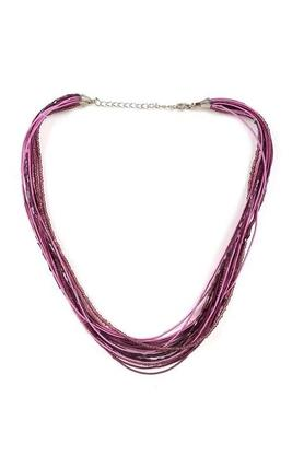 Womens Multi String Beads Necklace