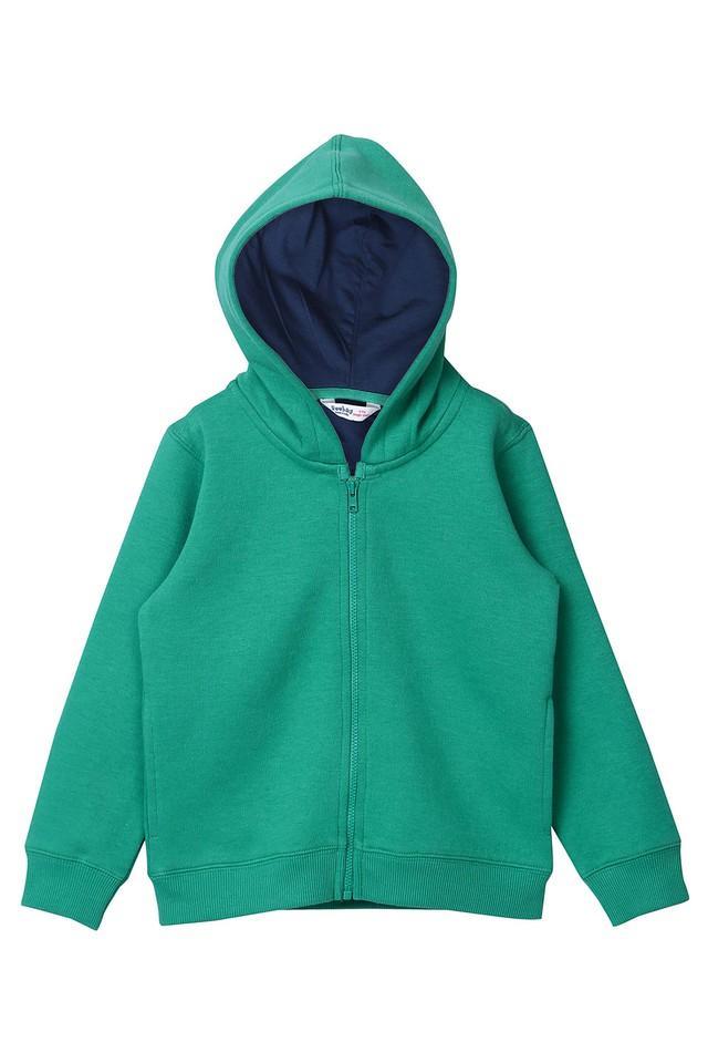 Boys Hooded Solid Sweatshirt