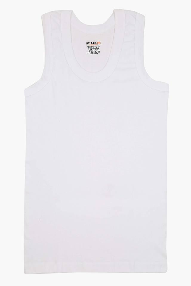 Mens Round Neck Solid Vest