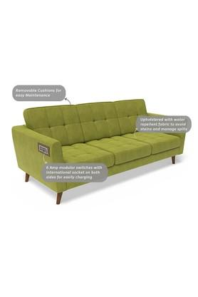 Self Pattern 3 Seater Sofa with 6 Amp Modular Switch