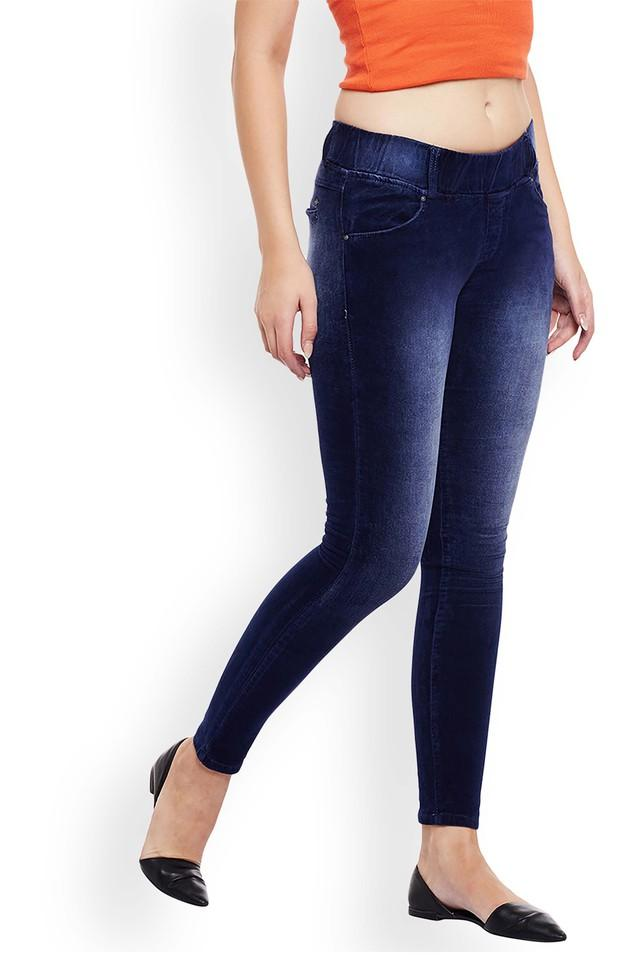 Womens 4 Pocket Mild Wash Jeggings