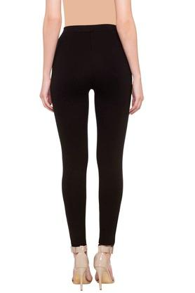 Womens Solid Jeggings