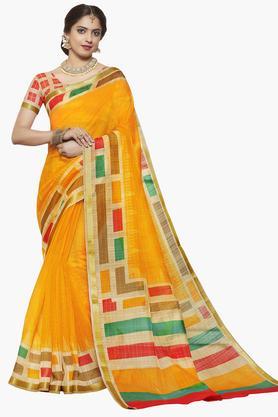 ISHINWomens Art Silk Printed Saree - 203495548_9407