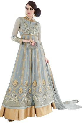 DEMARCAWomens Georgette Dress Material - 203984126_9204