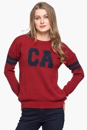LEVIS Womens Round Neck Solid Sweater