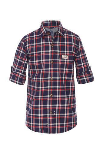Boys Collared Check Shirt