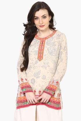 BIBA Womens Poly Cotton Straight Kurti