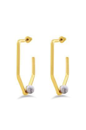 Womens Gold Plated Hoop Earrings