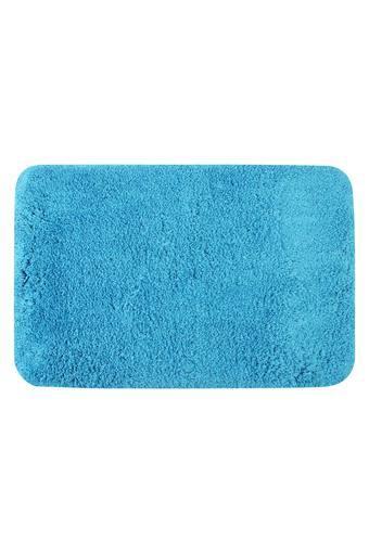 Solid Textured Rectangular Bath Mat