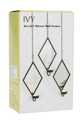 IVY Mirror Wall Sconee Candle Holders Set Of 3