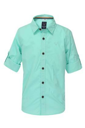 a40554b69ebe X ALLEN SOLLY KIDS Boys Solid Casual Shirt