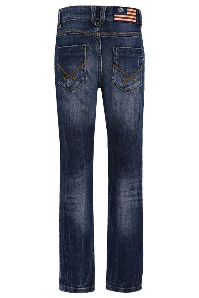 Boys 5 Pocket Slim Fit Distressed Jeans