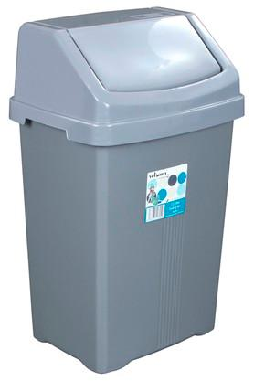 WHATMORE Swing Top Plastic Dustbin - 6978192_9200