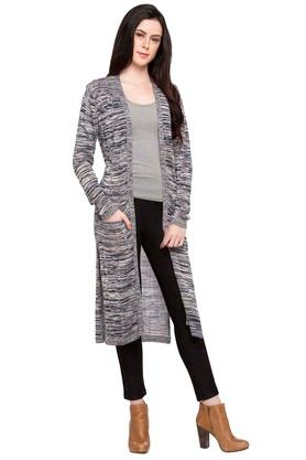 RS BY ROCKY STAR Womens Open Neck Textured Cardigan