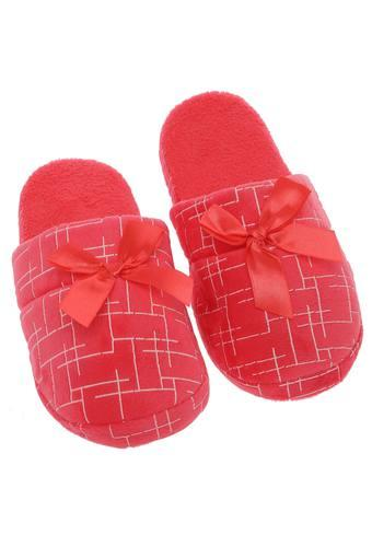 Bow Lines Printed Bath Slippers