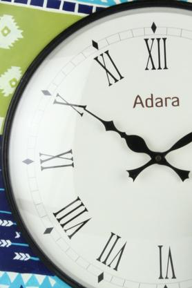 Round Analogue Wall Clock with Roman Markers