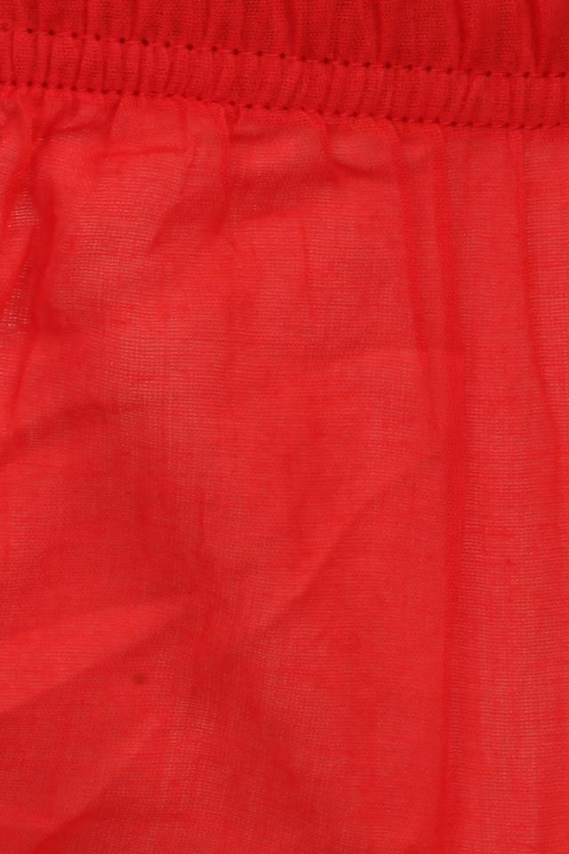 Girls Round Neck Printed Layered Dress with Briefs