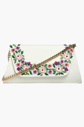 HAUTE CURRYWomens Snap Closure Sling Bag