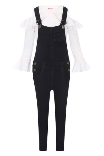 Girls 4 Pocket Assorted Jumpsuit