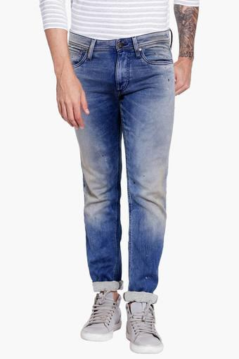 Buy JACK AND JONES Mens 5 Pocket Slim Fit Dark Stone Wash Jeans ... 9de2e13373