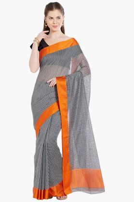 JASHN Womens Checked Art Silk Saree - 203329071