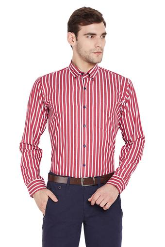 Mens Slim Fit Striped Formal Shirt