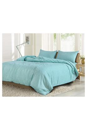 Cotton Slub King Bed Sheet with Pillow Covers