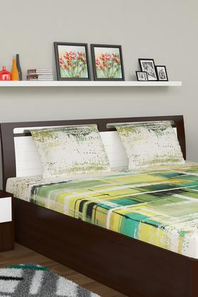 IVY Poly Cotton Printed Bed Sheet With Pillow Cover