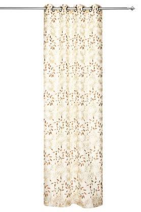 Embroidered Sheer 2 in 1 Door Curtain