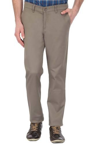 ALLEN SOLLY -  Light GreyCasual Trousers - Main