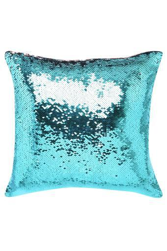 Square Sequin Embellished Cushion Cover