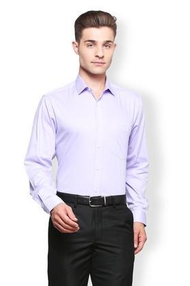 Mens Regular Fit Slim Collar Solid Shirt