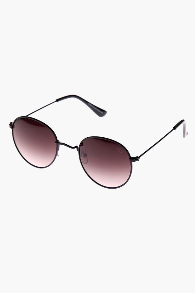 Womens Round Polycarbonate Sunglasses - G16259BK