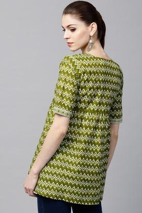 Women Cotton Printed Aline Kurti