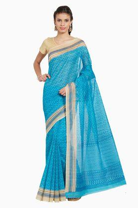JASHN Womens Ethnic Motif Print Artsilk Saree