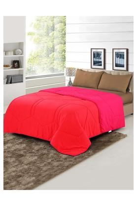 Microfiber Single Colour Block Quilted Quilt